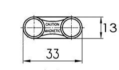 Чертеж магнитный держатель для бейджей
