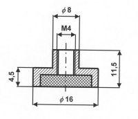 Магнитный держатель Е16