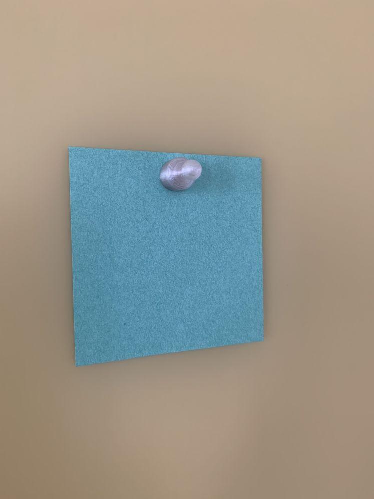 пешка 12х23 мм для стеклянной доски на бумажке