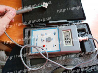 проверка намагниченности неодимового магнита 20х20х20мм куб тесламетр