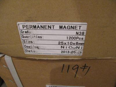 магниты неодимовые упаковка 25х10х6 мм