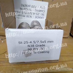 магнит крепежный без корпуса неодимовый 25 мм , сильный магнит на шкафчик