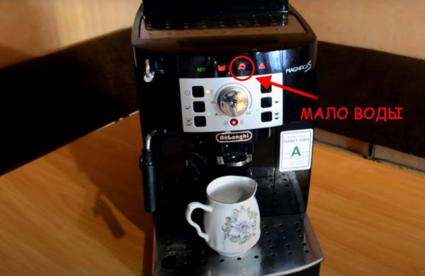 кофемашина с индикатором мало воды