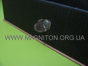 магнитик в металлической оправе для крепления клапана коробки