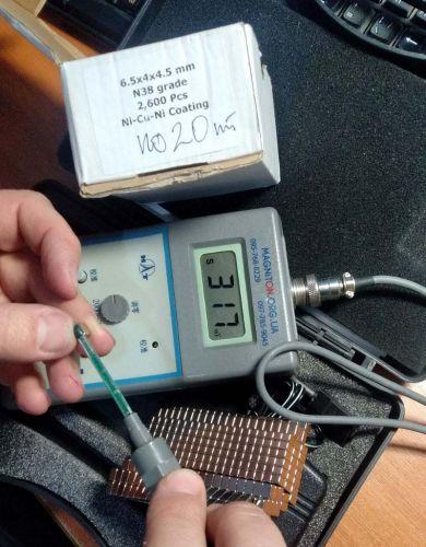 намагніченність у тесла магніта 6,5 на 4 на 4,5 мм