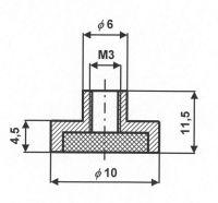 Магнитный держатель под крючек м3