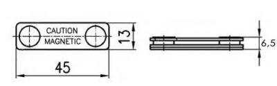 креслення магнітне кріплення для бейджу пластик