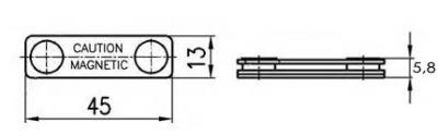 креслення магнітне кріплення для бейджу метал