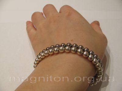 браслет магнитный серебро-хром